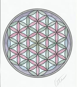 From the Meditation colouring book from The Works. Done with my cheap metallic pencils